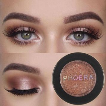 PHOERA Glitter Shimmering Color Eye Shadow Powder Palette Metallic Eyeshadow Palette Cosmetic Makeup By DMZing