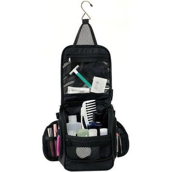 NeatPack Compact Hanging Toiletry Bag, Black
