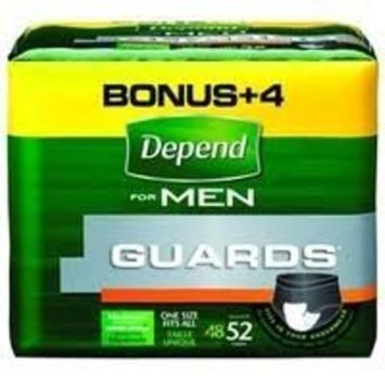 Medline Depend Guards For Men by Kimberly-Clark 52/PACK 2 Pack / Case