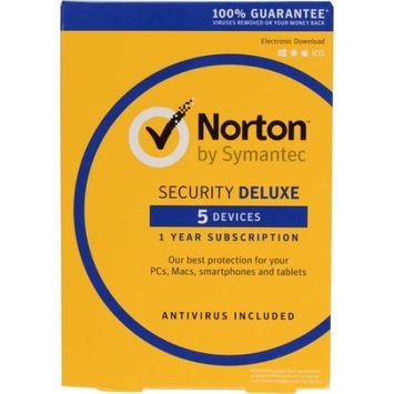 Symantec 21358875 Norton Security Deluxe, 5 Devices (Email Delivery)