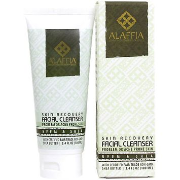 Alaffia - Facial Cleanser Neem & Black Soap Skin Recovery - 3.4 oz.
