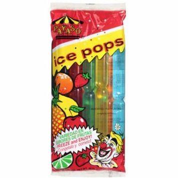 (3 Pack) Payaso Assorted Fruit Flavor Ice Pops, 30 oz