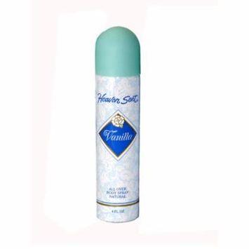 Heaven Sent Vanilla All Over Body Spray 4 Oz / 120 Ml for Women by Mem