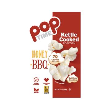 Ziggy Snack Foods POPTime Kettle Cooked Popcorn, Honey BBQ, 7 Oz