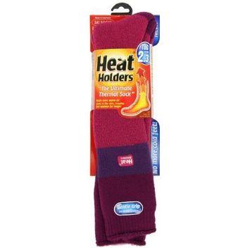 Heat Holders Ladies Ski Heat Holders, Fuchsia, Purple and Raspberry, US Shoe Size 5-9, 1 Pair