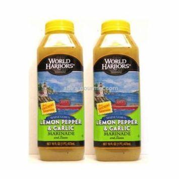 World Harbors Marinade Maine's Own Lemon Pepper & Garlic (Pack of 2)
