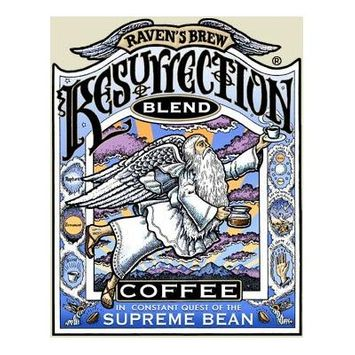 Raven's Brew Auto Drip Grind Resurrection Blend, Full City Roast 12-Ounce Bag