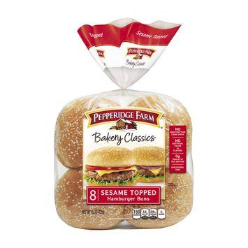 Pepperidge Farm® Bakery Classics Sesame Topped Hamburger Buns
