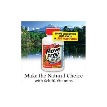 Schiff Move Free Advanced - Glucosamine Chondroitin Uniflex Joint Fluid - 140 Tablets Each (Pack of 3)