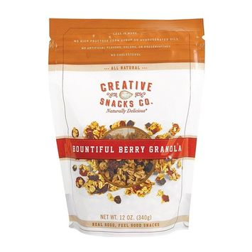 CREATIVE SNACKS, GRANOLA, BOUNTIFUL BERRY, Pack of 6, Size 12 OZ - No Artificial Ingredients