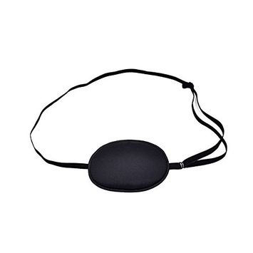 AKOAK 100% Mulberry Silk Pirate Eye Patch for Adult Men Boys to Reat Lazy Eye/Amblyopia /Strabismus - Not Light Leak,Smooth,Soft and Comfortable (Large,Black)