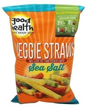 Good Health VEGGIE STRAWS, (Pack of 4)