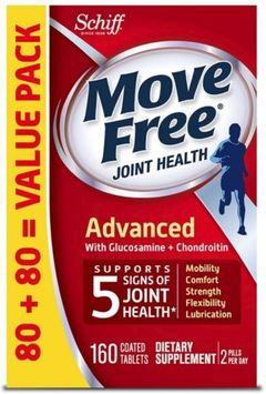 Move Free Advanced, Joint Health Supplement with Glucosamine & Chondroitin 160 ea (Pack of 2)