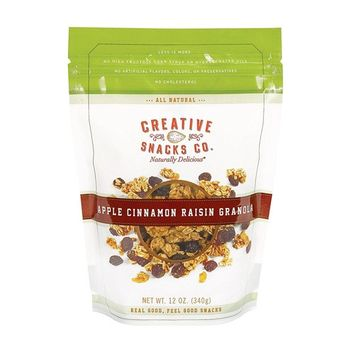 CREATIVE SNACKS, GRANOLA, APPLE CINNAMON, Pack of 6, Size 12 OZ - No Artificial Ingredients