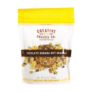 CREATIVE SNACKS, GRANOLA, CHOC, BANANA, Pack of 6, Size 12 OZ - No Artificial Ingredients