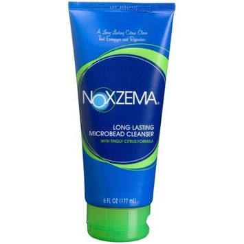Noxzema Long Lasting Microbead Cleanser, 6.0-Ounce Tubes (Pack of 4)