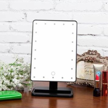 Makeup Mirror with 20 LED Light Touch Dimmable Mirror Portable Make-up Cosmetic Mirror Adjustable Vanity Tabletop Countertop