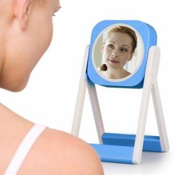 Cosmetic mirror for small desk lamp