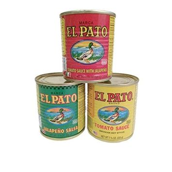 El Pato 7.75oz 3 Can Bundle - Tomato Sauce, Tomato Sauce with Jalapeno, and Jalapeno Salsa
