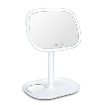 LED Vanity Makeup Mirror Lights Kit ,Touch Screen and 10XMagnification Mirror Portable Tabletop Vanity Mirror Travel Cosmetic Mirror Adjustable 360°Rotation for Countertop Bathroom Cosmetic