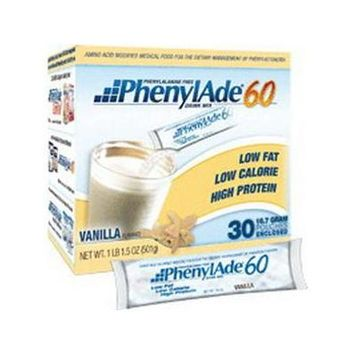 Applied Nutrition Corp PhenylAde 60 Drink Mix, 1335 Calories, Vanilla Flavor 454g Can, 1 Count