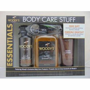 Woody's Essentials Body Care Stuff for Men, Gift Set