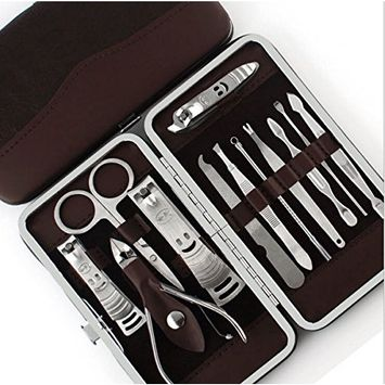 Nail Clippers 12 in 1 Stainless Steel with Portable Travel Case