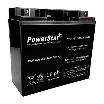 PowerStar battery for UPG UBCD5745 Sealed Lead Acid Batteries