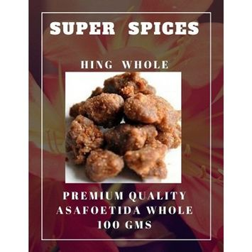 Asafoetida Hing Whole Heeng By SUPER SPICES 100gms ( 3.5 oz )