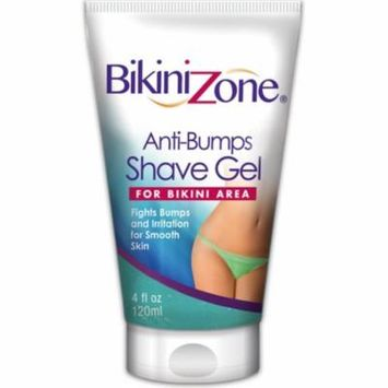 6 Pack - Bikini Zone Anti-Bumps Shave Gel For Bikini Area 4 oz