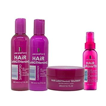 Lee Stafford Hair Lengthening Treatment, Shampoo, Conditioner & Leave In Treatment