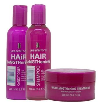 Lee Stafford Hair Lengthening Treatment, Shampoo & Conditioner With Pro Growth Complex