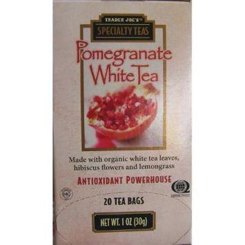 Trader Joe's Pomegranate White Tea, 20 Tea Bags 3 Pack