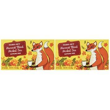 Trader Joe's Harvest Blend Herbal Tea, Caffeine Free, (2 Pack)