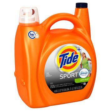 Procter & Gamble Tide Plus Febreze Sport Active Fresh High Efficiency Liquid Laundry Detergent - 138 oz, Febreze Sport High Efficiency