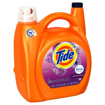 Procter & Gamble Tide Plus Febreze Spring & Renewal High Efficiency Liquid Laundry Detergent - 138 oz