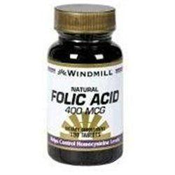 Folic Acid 400 mcg, 180 Caplets, Windmill Health Products