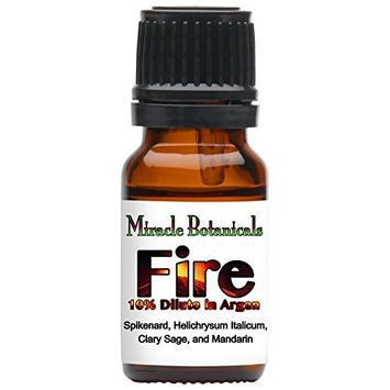 Miracle Botanicals Fire Annointing Oil - 10% Essential Oil Solar Plexus Chakra Synergy Blend in a Golden Argan Oil Base 10ml