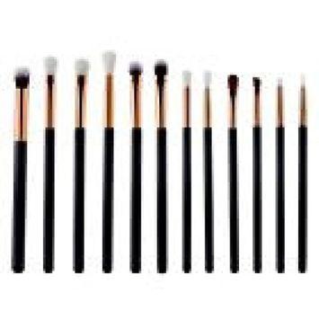 12Pcs Makeup Eye Brush Set - Fheaven Eyeshadow Eyeliner Blending Brushes Kit - Best Choice Essential Makeup Brushes