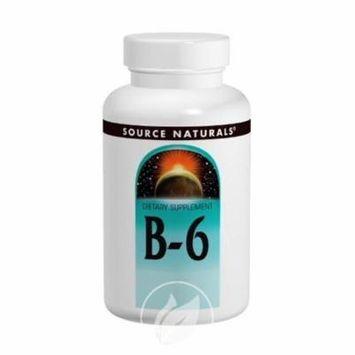 Source Naturals Vitamin B-6 500mg, 50 Tablets, Pack of 2