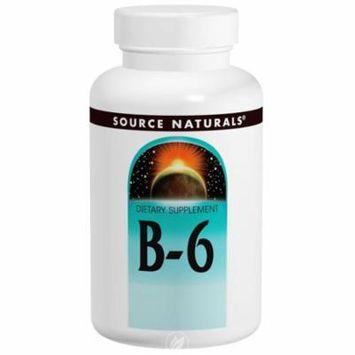 Source Naturals - Vitamin B-6, 100 mg, 100 Tablets, Pack of 2