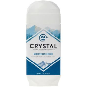 Crystal Mineral Enriched Deodorant - MOUNTAIN FRESH (2.5 Ounces Stick) by Crystal