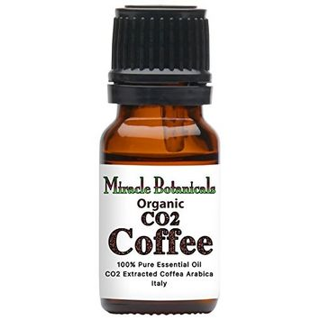Miracle Botanicals Organic CO2 Extracted Coffee Essential Oil - 100% Pure Coffea Arabica - 10ml or 30ml Sizes - Therapeutic Grade 10ml