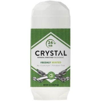 Crystal Mineral Enriched Deodorant - FRESHLY MINTED (2.5 Ounces Stick) by Crystal