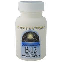 Source Naturals - Vitamin B-12 Sublingual 2000 mcg. - 50 Tablets