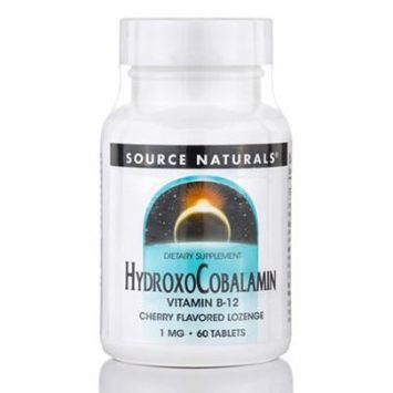 HydroxoCobalamin 1 mg (Vitamin B-12), Cherry Flavor - 60 Tablets by Source Natur