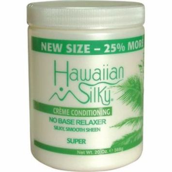 Hawaiian Silky No Base Relaxer - Super Bonus 20 oz. (Pack of 2)
