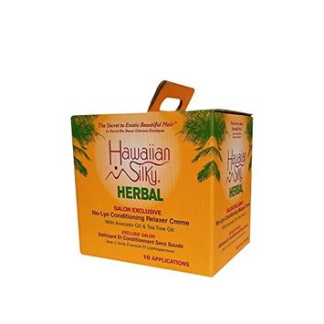 Hawaiian Silky Herbal No Lye Regular Relaxer Kit (10 Pack)