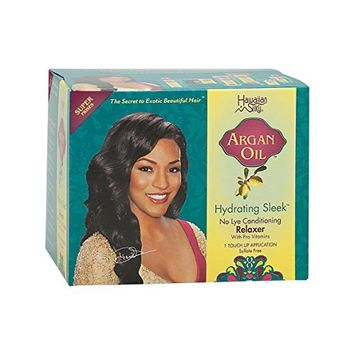 Hawaiian Silky Argan Oil Hydrating Sleek No Lye Touch Up Relaxer - Super