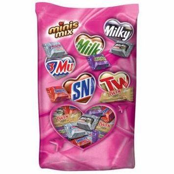 Mars Chocolate Valentine's Minis Size Candy Bars Variety Mix, 24 Oz